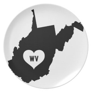 West Virginia Love Plate