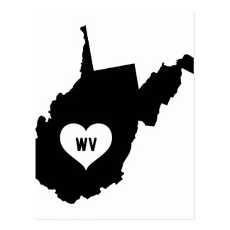 West Virginia Love Postcard