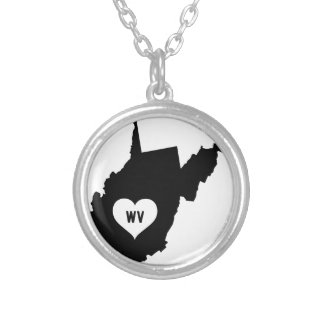 West Virginia Love Silver Plated Necklace