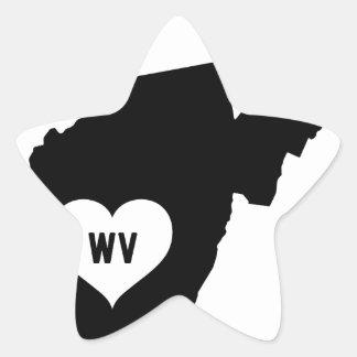 West Virginia Love Star Sticker