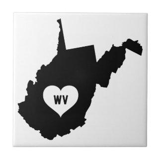 West Virginia Love Tile