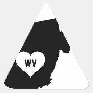 West Virginia Love Triangle Sticker