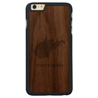 West Virginia map Carved Walnut iPhone 6 Plus Case