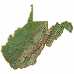 West Virginia Map Keychain Cut Out
