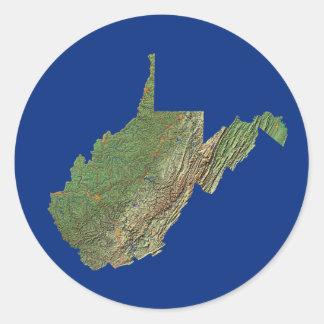 West Virginia Map Sticker
