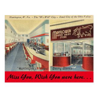 West Virginia, Mayflower Dairy Store, Huntington Postcard