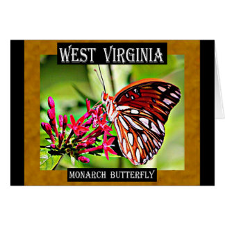 West Virginia Monarch Butterfly Greeting Card