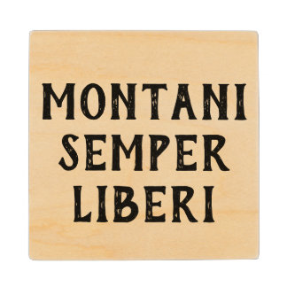 West Virginia motto Wood Coaster