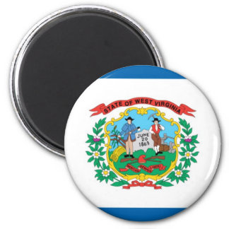 West Virginia  Official State Flag 6 Cm Round Magnet
