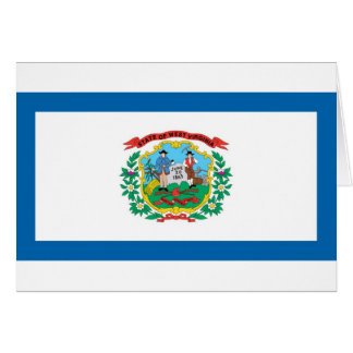 West Virginia  Official State Flag Greeting Card