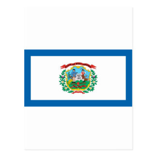 West Virginia  Official State Flag Postcard