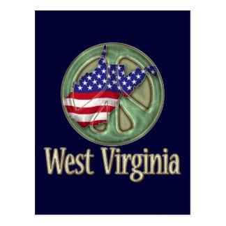 West Virginia Peace State Postcard