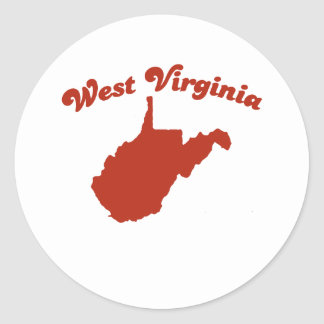 WEST VIRGINIA Red State Stickers