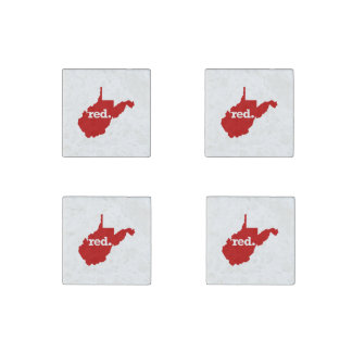 WEST VIRGINIA RED STATE STONE MAGNET