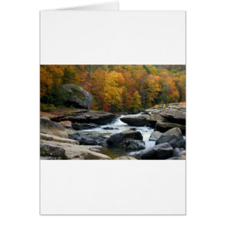 West Virginia River in the fall Greeting Cards