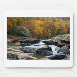 West Virginia River in the fall Mousepad