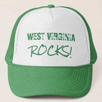 WEST VIRGINIA Rocks Words Green Hat