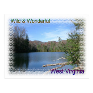 West Virginia Rustic Lake Postcard