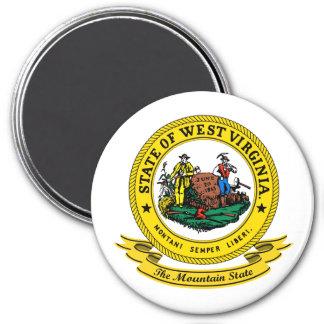West Virginia Seal 7.5 Cm Round Magnet