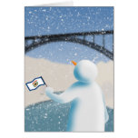 West Virginia Snowman Greeting Card