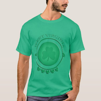 West Virginia St. Patrick's Shamrock Green T-shirt