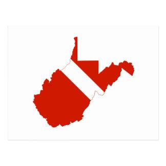 West Virginia State Dive Flag Postcard