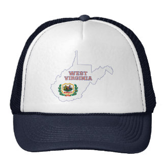 West Virginia State Flag and Map Mesh Hat