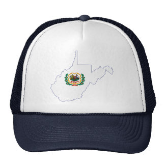 West Virginia State Flag and Map Trucker Hat