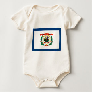 West Virginia State Flag Baby Bodysuit