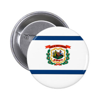 West Virginia State Flag Pinback Button