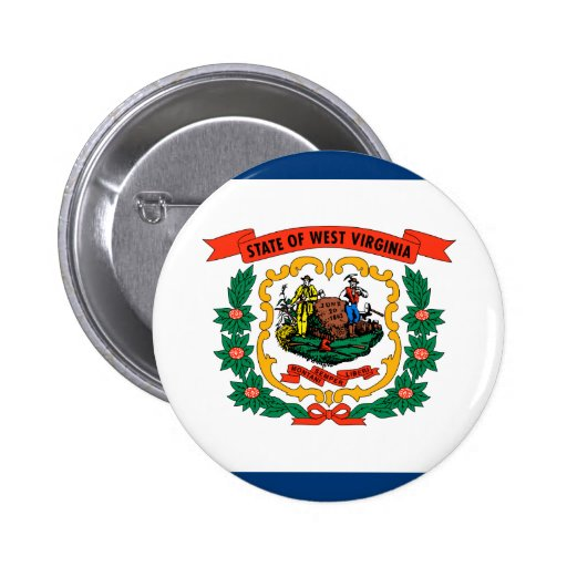 West Virginia State Flag Pinback Buttons