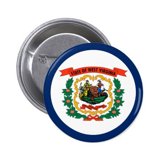 West Virginia State Flag Button