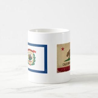West Virginia State Flag Basic White Mug