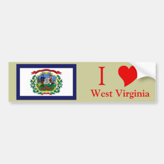 West Virginia State Flag Bumper Stickers