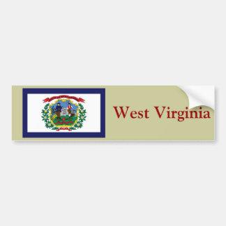 West Virginia State Flag Bumper Sticker