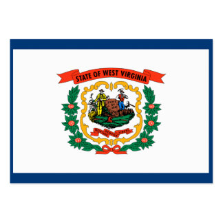 West Virginia State Flag Business Card Template