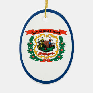 West Virginia State Flag Ceramic Ornament