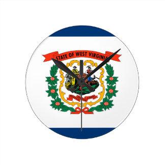 West Virginia State Flag Wallclock