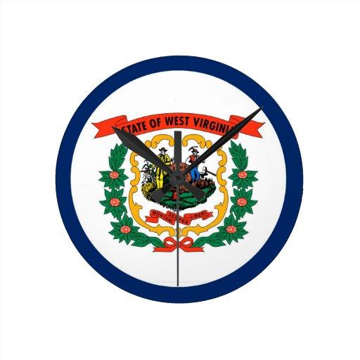 West Virginia State Flag Clock