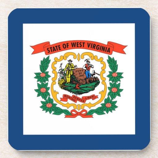 West Virginia State Flag Beverage Coaster