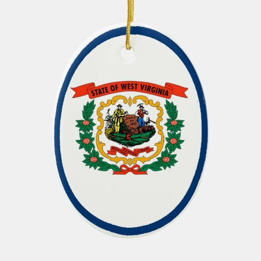 West Virginia State Flag Christmas Ornaments