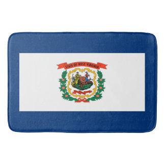 West Virginia State Flag Design Bath Mats