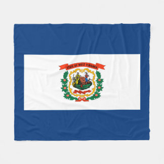 West Virginia State Flag Design Fleece Blanket