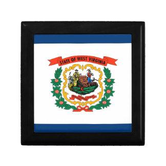 West Virginia State Flag Trinket Boxes