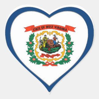 West Virginia State Flag Heart Sticker