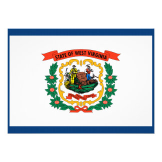 West Virginia State Flag Invitation
