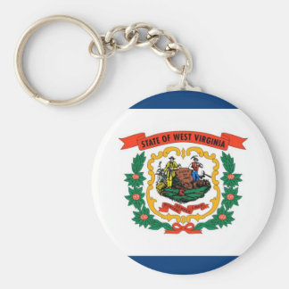 West Virginia State Flag Keychain