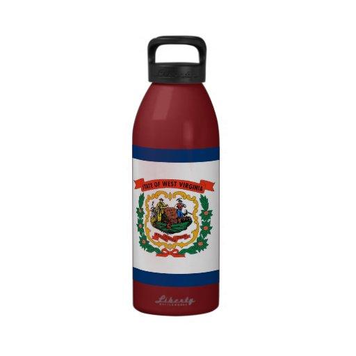 West Virginia State Flag Liberty Bottle Drinking Bottles