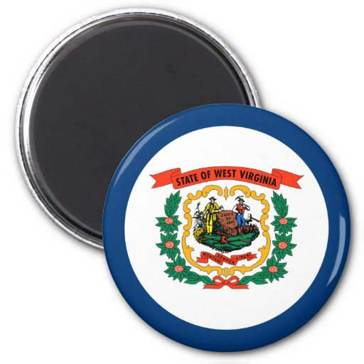 West Virginia State Flag Magnet