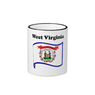 West Virginia State Flag Coffee Mugs
